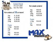 Pet Food For Dogs/cats in Pet Food & Products Western Cape Rondebosch - South Africa