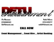 Event Management ... Event Hire ... Artist Booking
