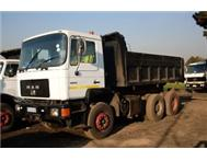 MAN F90 10 CUBE TIPPER TRUCK / WHITE& BLACK (REWARD)