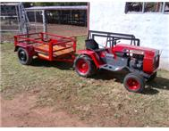 Small Tractor Petrol and Trailer