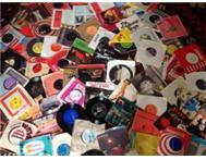 Large Selection of Seven Single Vinyl/Records--R5 Each