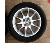 Toyota RunX RSi Rims and Tyres x 3