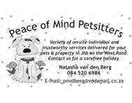 Pet Sitters Johannesburg (West Rand) in Pet Services Gauteng Krugersdorp - South Africa