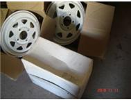PRO-WHITE RIMS -13 AND 14 4 TRAILERS AND TAXI S 2.7TON COUPLE