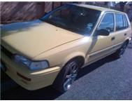 Toyota Tazz 1.3 Engine 5speed 1995 Model =R40 000 cash not neg!!