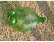 Old Antique Glass Wine Bottle for Storage x 3