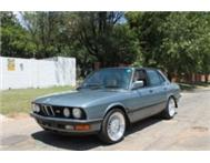 1988 BMW 525e E28 Manual Cirrus Blue