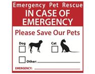 Emergency Pet Rescue Sign