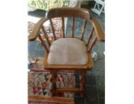 Beautiful antique wooden bar/counter chairs