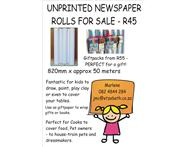 Unprinted newspaper rolls for R45 - 820mm x approx 50 meters