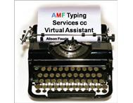 AMF Typing Services Virtual Assistant Services in Other Services KwaZulu-Natal Durban - South Africa