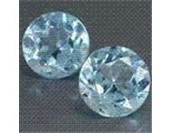 3.55cts PAIR OF IF SRI-LANKAN TOPAZ AAA TOP VIVID SWISS BLUE ROUND SHAPE CUT-Indicative Market Price R3 890.00