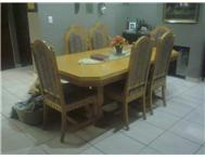 Oak 8 Seater Dining room table etc