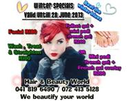 HAIR - MAKE UP - NAILS - WAXING - SPECIALS...