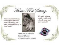 NEED A HOUSE/PET SITTER???