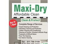 Maxdry carpet cleaners 0733592277