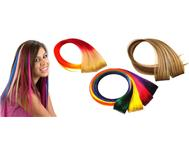100% Human hair Clip-in highlights 11 different neon colour