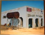 Bush Shop 2 Oil Painting in Art Limpopo Hoedspruit District - South Africa