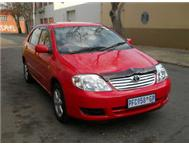2004 TOYOTA COROLLA 1.4i ENGINE METALLIC RED COLOR