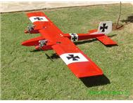 2.1 meter W/span twin Middle Stick R/C model aircraft with motors and servos.