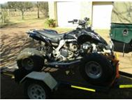 2008 KFX450 FUEL INJECTED WITH BREAK-NECK TRAILER