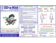 ID-a-kid Child Identification Kits