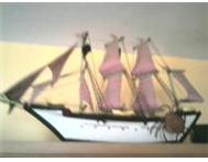 SHIP PAINTING / SWORD DISPLAY / HAND MADE SAIL SHIP Durban kzn