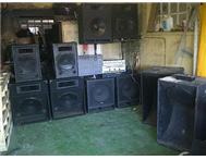 Sound system for DJ