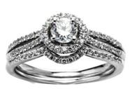 Exclusive Italian Design Engagement/Wedding ring 0.7ct Diamond