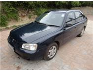 Hyundai Accent .Aircon.power steering.LOW KILOS. A great car.