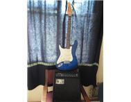 Guitar & 30 Watt amp Jazzy new guitar