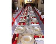 CHAIRS TRESSLE TABLES LINEN CUTLERY FOR HIRE- MAX 80 GUESTS