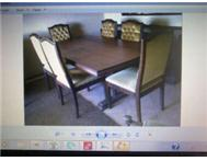 Solid Imbuia Dining room set