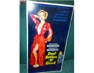 Marilyn Monroe Authentic wooden poster (Dont Bother to Knock)
