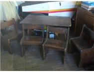 Kiddie Wooden Table with 4 chairs