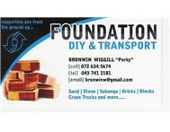 Foundation DIY & Transport