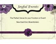 Joyful Events Venue Hire and Designs Free State