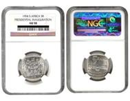 CHEAPEST MANDELA PRESIDENTIAL INAUGURATION NGC GRADED COINS
