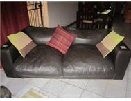 Leather Couches Set 3-seater and 2-seater