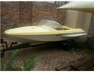 Yellow baja buggy and boat for sale