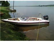 Bow Raider boat with 75 Mercury to sell or to swop for super bike in same price range