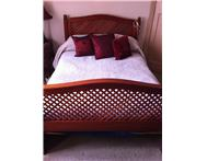 Double bed made from either Kiaat or Red Cherry Wood