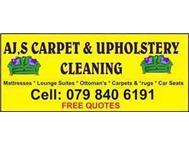 AJ s Carpet & Upholstery Cleaning