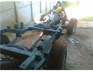NISSAN 4X4 TRACKER ON ROLLING CHASSIS