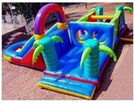 Jumping castles adventure islands gladiator ball ponds tables and chairs for hire