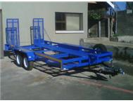 Utility trailers for hire.