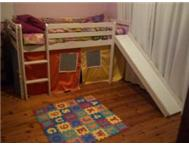 SINGLE BED INCL PLAYTENT & SLIDE - R1000.00