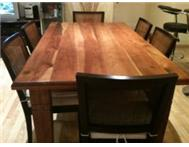 DINING ROOM TABLE - COFFEE TABLE - WINE RACK - BLACKWOOD