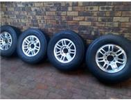 16 Inch Bakkie Mags with good tyres Toyota Nissan Ford