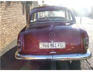 Mercedes Benz Ponton 1958 LHD one of a kind